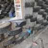 Electrical Rough-In Wiring of Earthship Tire Walls