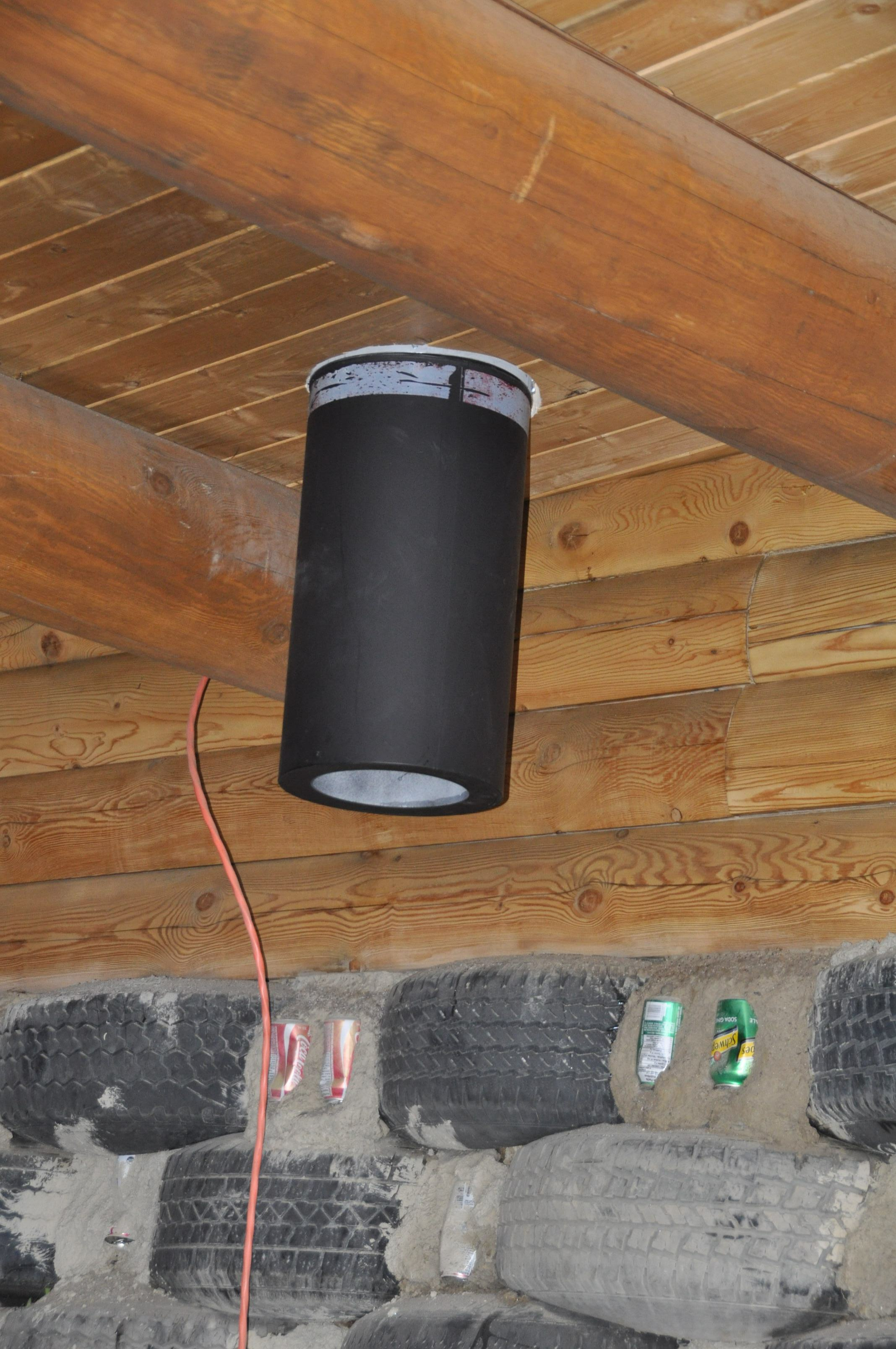 We Did This To Ensure That We Met The Clearance Requirements Of Chimney Pipe  From Combustible Surfaces (in Our ...