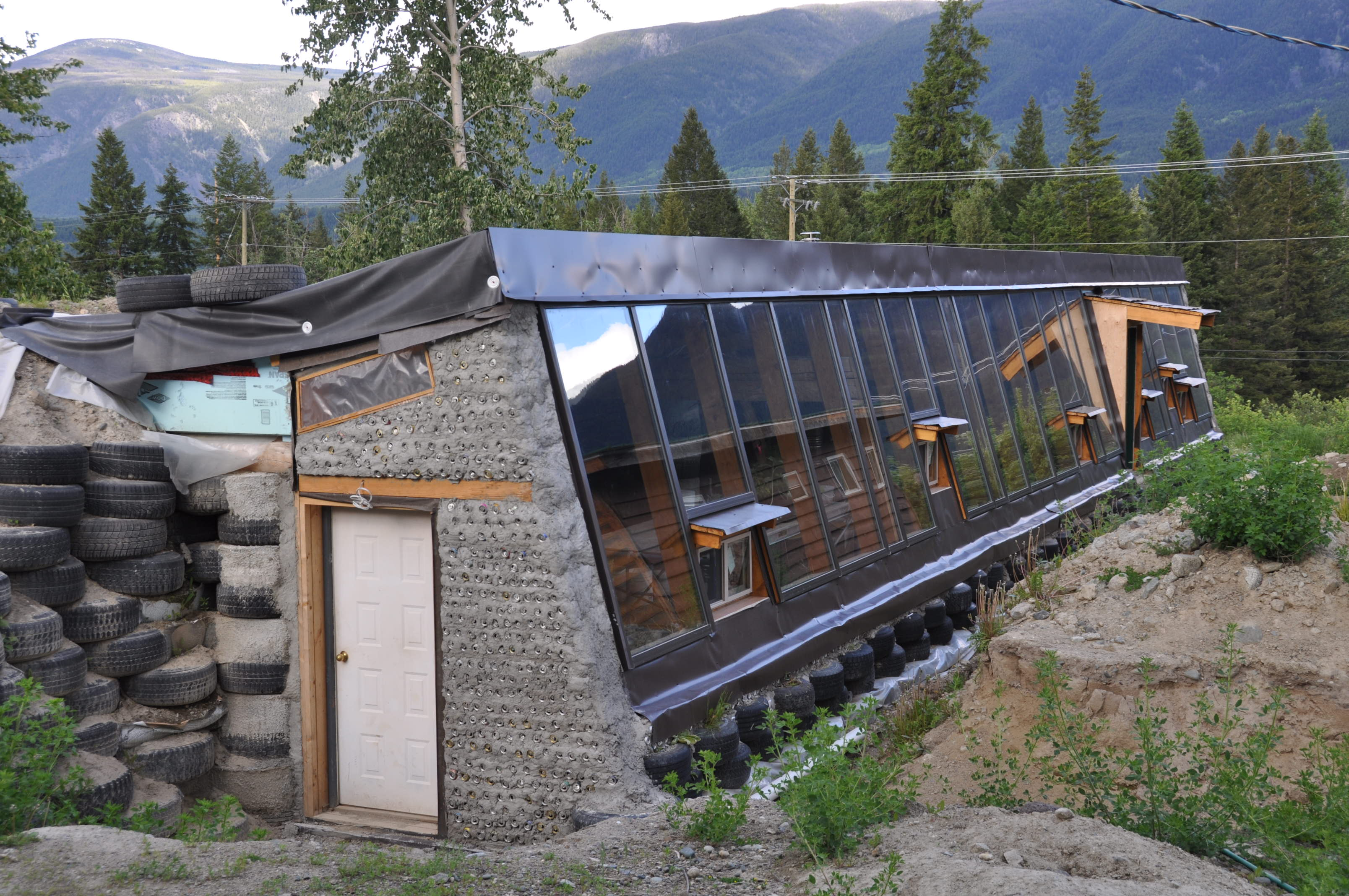 Front Flashing For the Earthship Roof